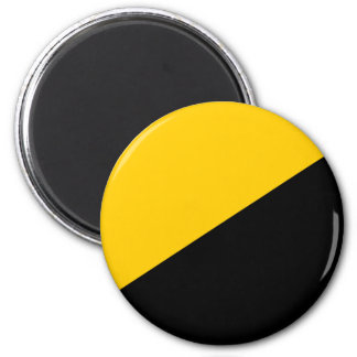 Anarcho Capitalist Black and Yellow Magnets