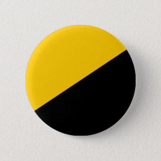 Anarcho Capitalist Black and Yellow Pinback Button