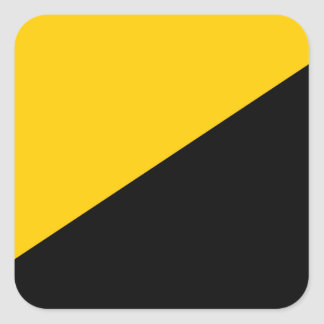 Anarcho Capitalist Black and Yellow Square Stickers