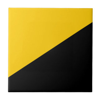 Anarcho Capitalist Black and Yellow Tile