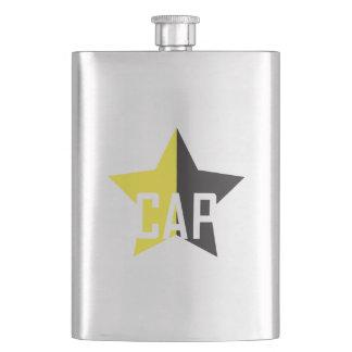 Anarcho-Capitalist Star Hip Flask