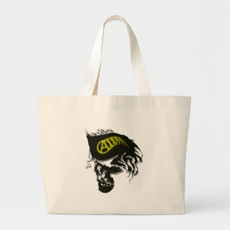 Anarcho Capitalist Tattered Flag with Lady Liberty Tote Bags