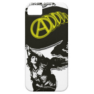 Anarcho Capitalist Tattered Flag with Lady Liberty iPhone 5 Covers