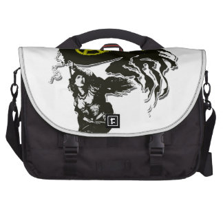 Anarcho Capitalist Tattered Flag with Lady Liberty Laptop Commuter Bag