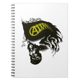 Anarcho Capitalist Tattered Flag with Lady Liberty Spiral Notebook