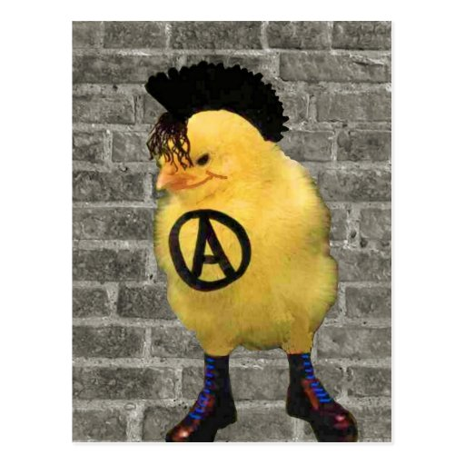 Anarcho Chick Post Card