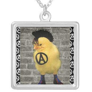 Anarcho Chick Square Pendant Necklace