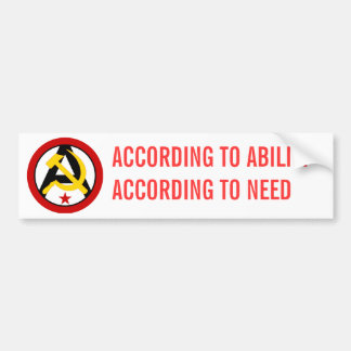 Anarcho-communist logo bumper sticker