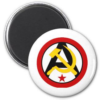 Anarcho-communist logo fridge magnet