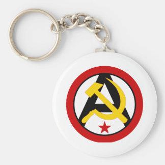 Anarcho-communist logo keychain