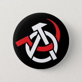 Anarcho-Communist Symbol Button