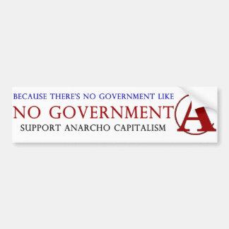 Anarcho dibujado mano Captalist - capitalismo + An Etiqueta De Parachoque