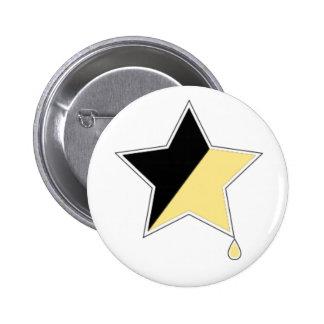 """Anarcho-mammarian 2 1/4"""" botón, oro del colostro pin"""