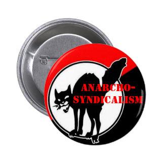 anarcho-sindicalismo pin redondo de 2 pulgadas