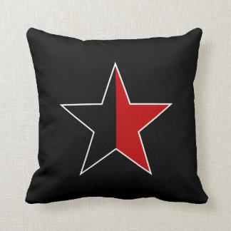 Anarcho star/black/talk & black throw pillow