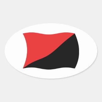 Anarcho-Syndicalism Flag Sticker
