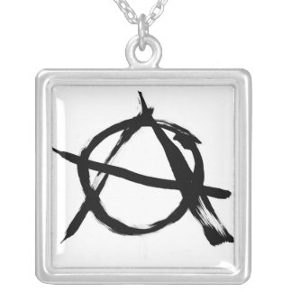 Anarchy A Large Silver Plated Necklace