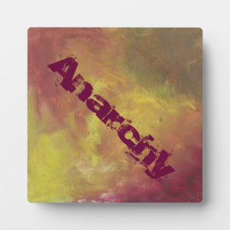 Anarchy Abstract Oil Painting Plaque