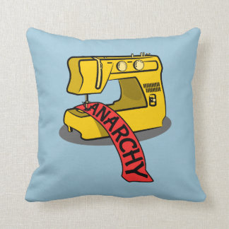 Anarchy Banner Sewing Machine Throw Pillow