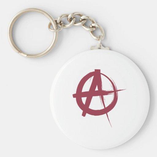 Anarchy Basic Round Button Keychain