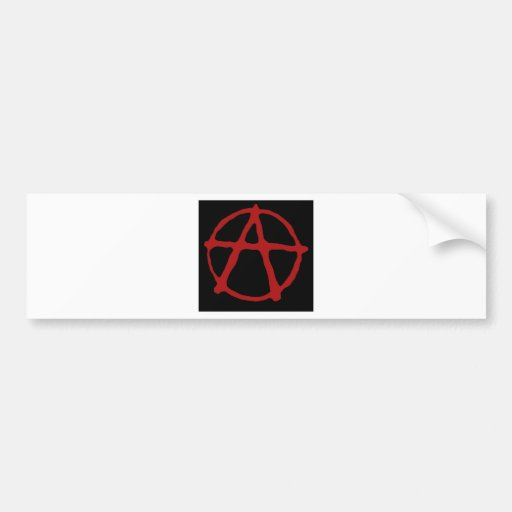 Anarchy. Black t-shirt with red symbol Bumper Stickers