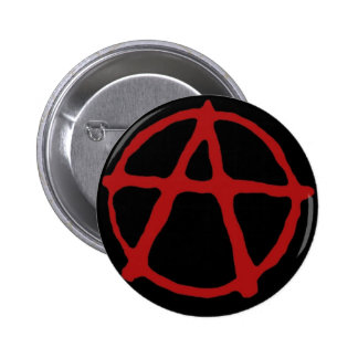 Anarchy. Black t-shirt with red symbol Button