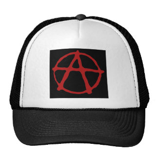 Anarchy. Black t-shirt with red symbol Trucker Hat