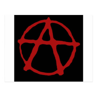 Anarchy. Black t-shirt with red symbol Postcard