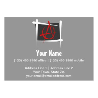 Anarchy Brush Flag Business Cards