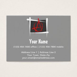 Anarchy Brush Flag Business Card