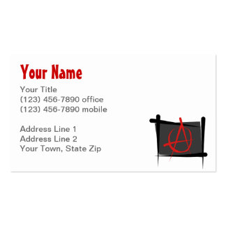 Anarchy Brush Flag Business Card