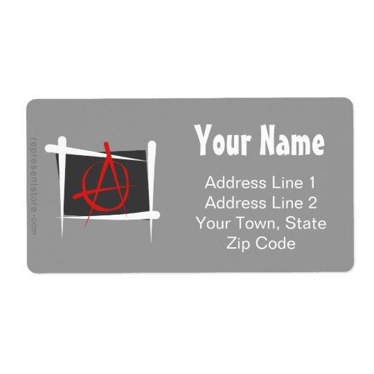 Anarchy Brush Flag Label