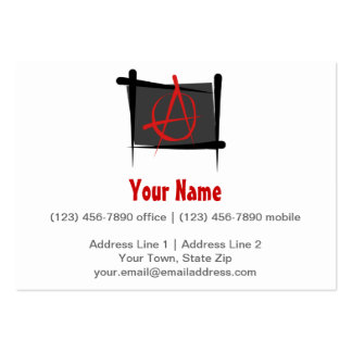 Anarchy Brush Flag Large Business Card