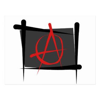 Anarchy Brush Flag Postcard