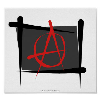 Anarchy Brush Flag Poster