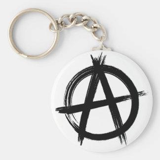 Anarchy Button Keychain