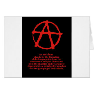 Anarchy Greeting Cards