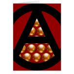 Anarchy Christmas Greeting Card