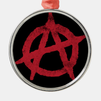 Anarchy Circle A Round Metal Christmas Ornament