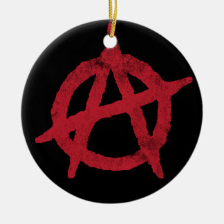 Anarchy Circle A Double-Sided Ceramic Round Christmas Ornament