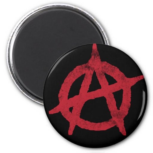 Anarchy Circle A Refrigerator Magnets
