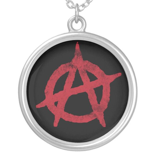 Anarchy Circle A Silver Plated Necklace