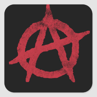 Anarchy Circle A Square Sticker