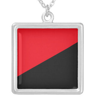Anarchy Classic Square Pendant Necklace