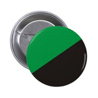 anarchy eco flag green black ecology bio pinback button