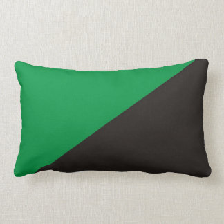 anarchy eco flag green black ecology bio throw pillow