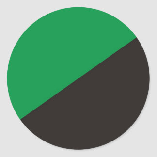 anarchy eco flag green black ecology classic round sticker