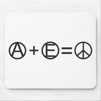 Anarchy + Equality = Peace Mouse Pad