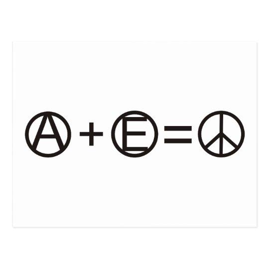 Anarchy + Equality = Peace Postcard