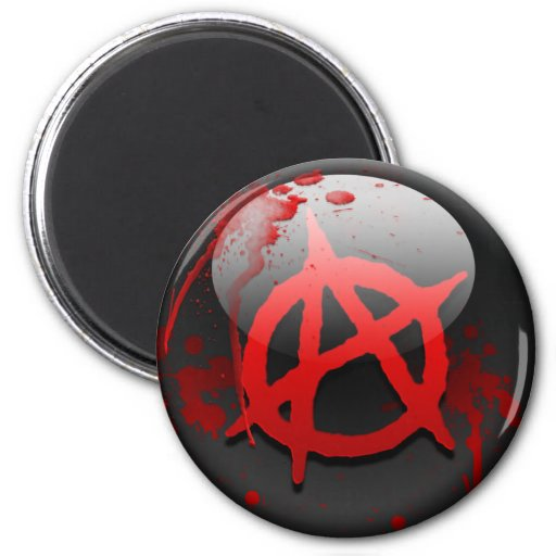 Anarchy Flag 2 Inch Round Magnet